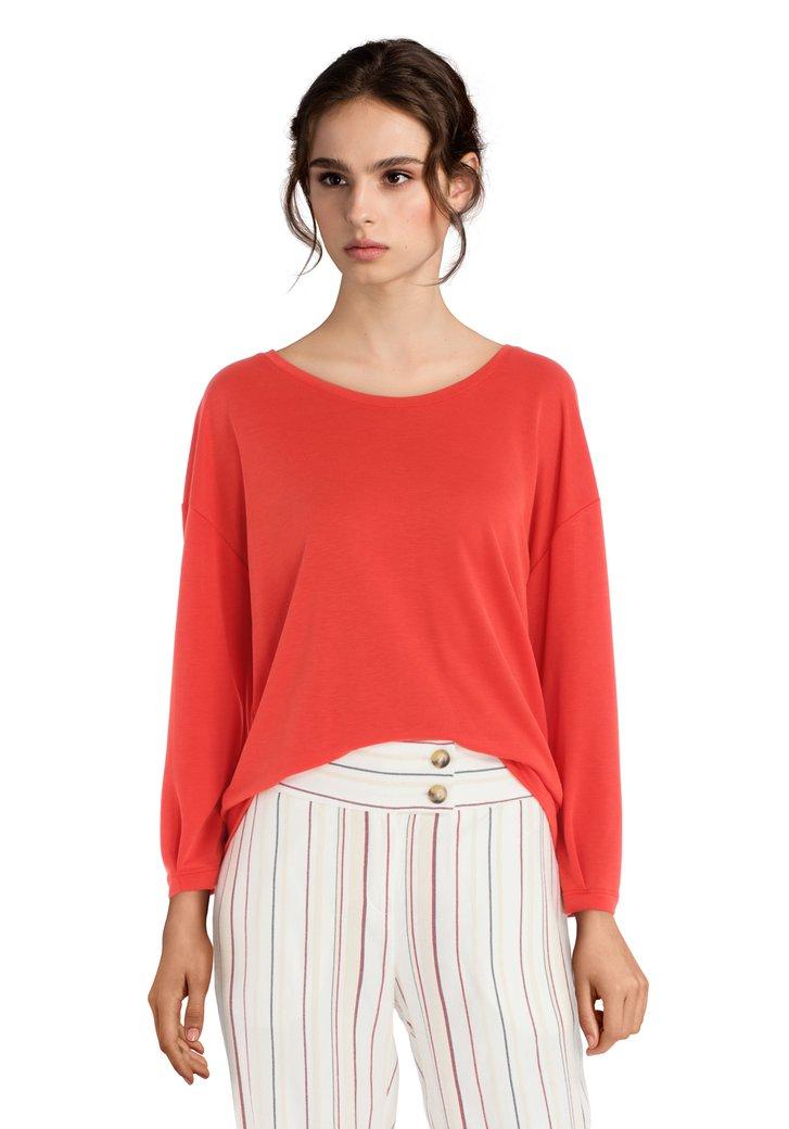 Oranje T-shirt met lange mouwen