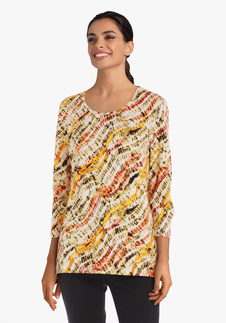 Oranje T-shirt met print