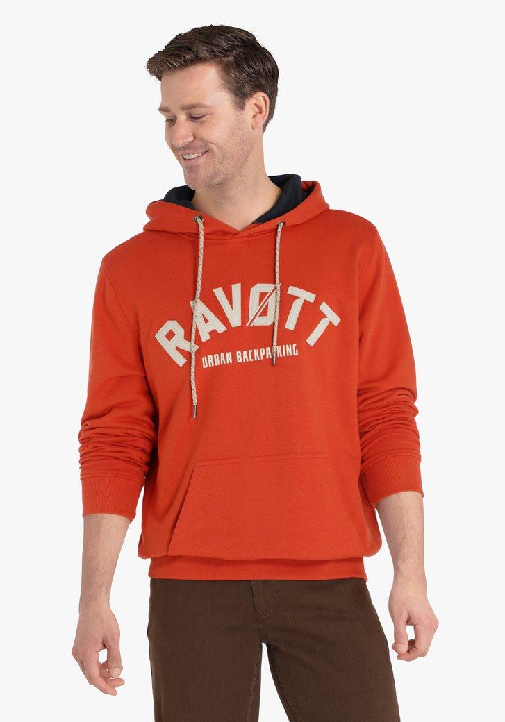 Oranje trui met kap