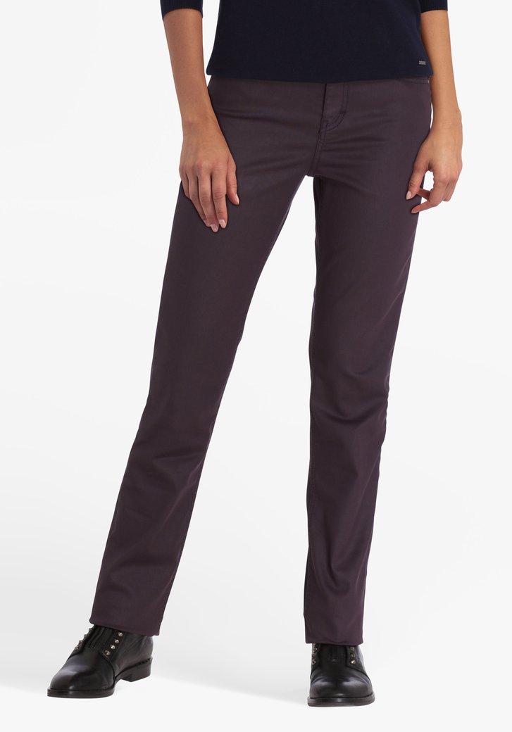 Paarse broek - straight fit