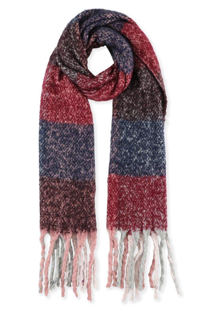 Paarse en roze zachte sjaal