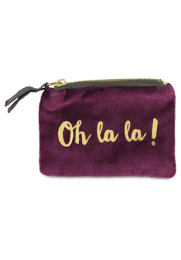 "Afbeelding van Paarse portemonnee ""oh la la"""