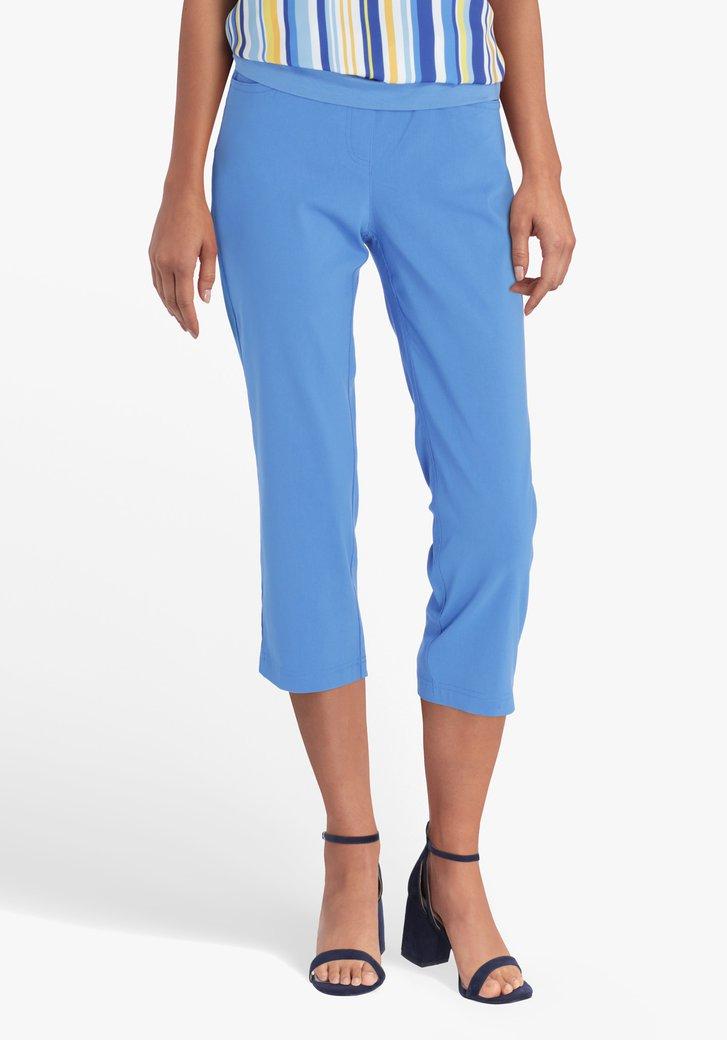 Pantalon 7/8 bleu acier avec taille élastique