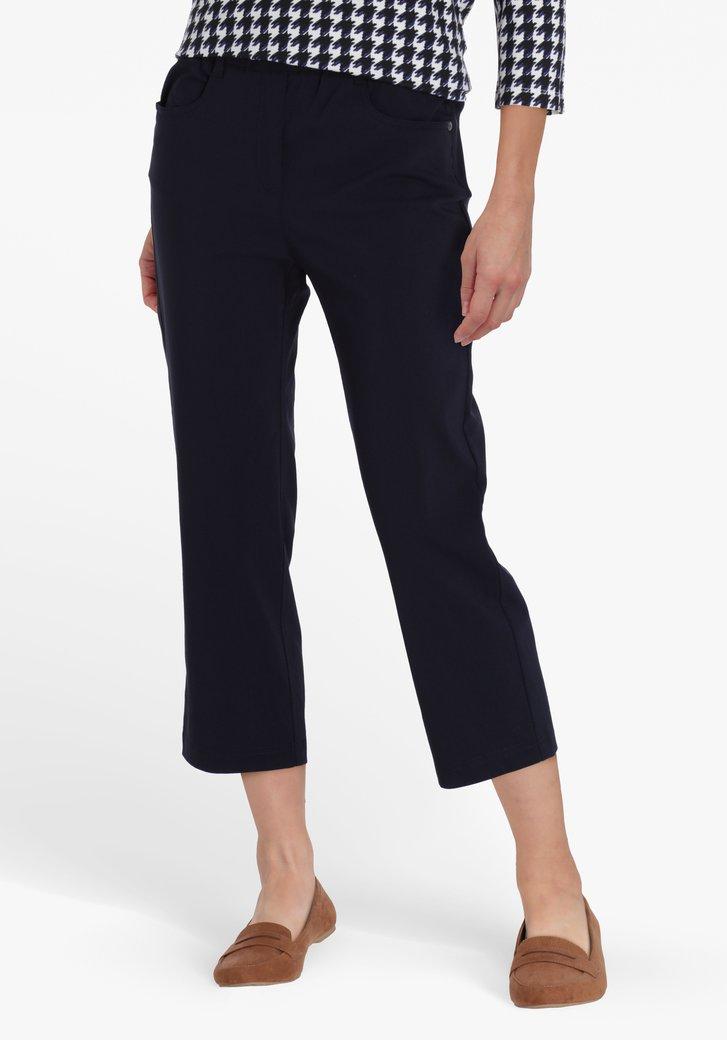 Pantalon 7/8 bleu marine avec taille élastique