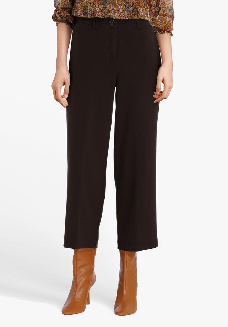 Pantalon 7/8 brun foncé