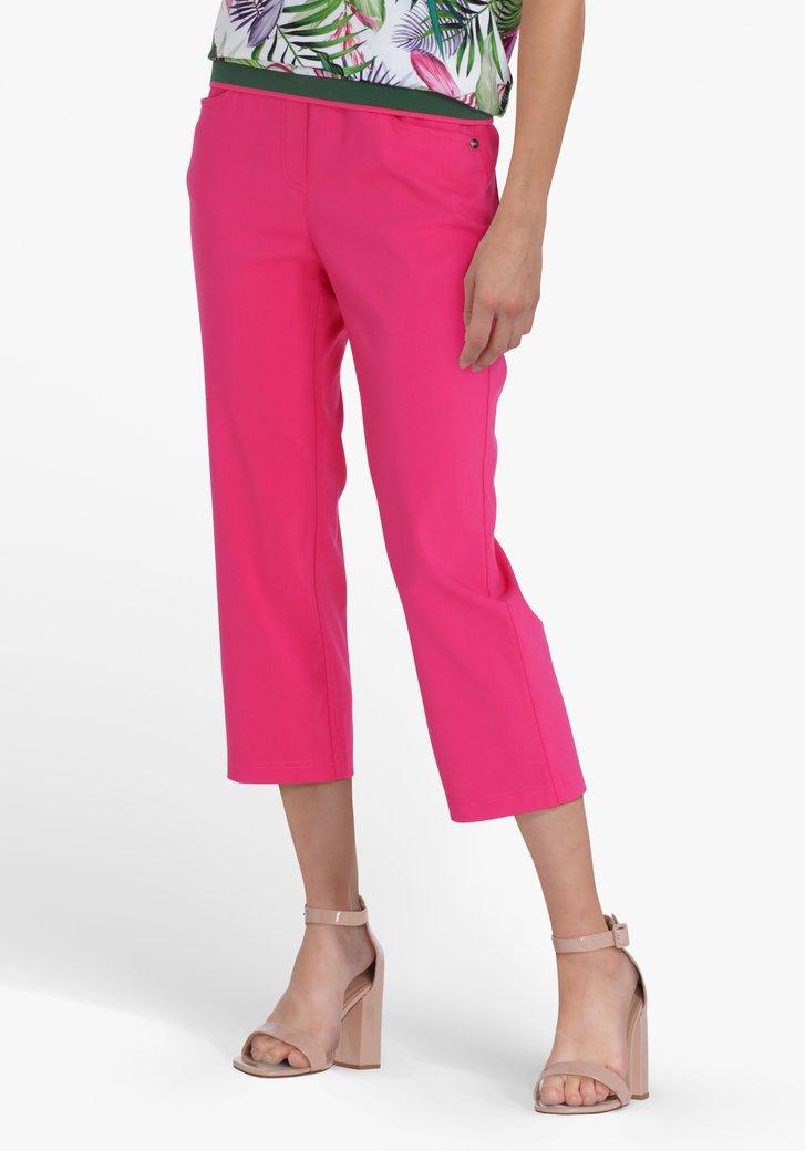 Pantalon 7/8 rose avec taille élastique