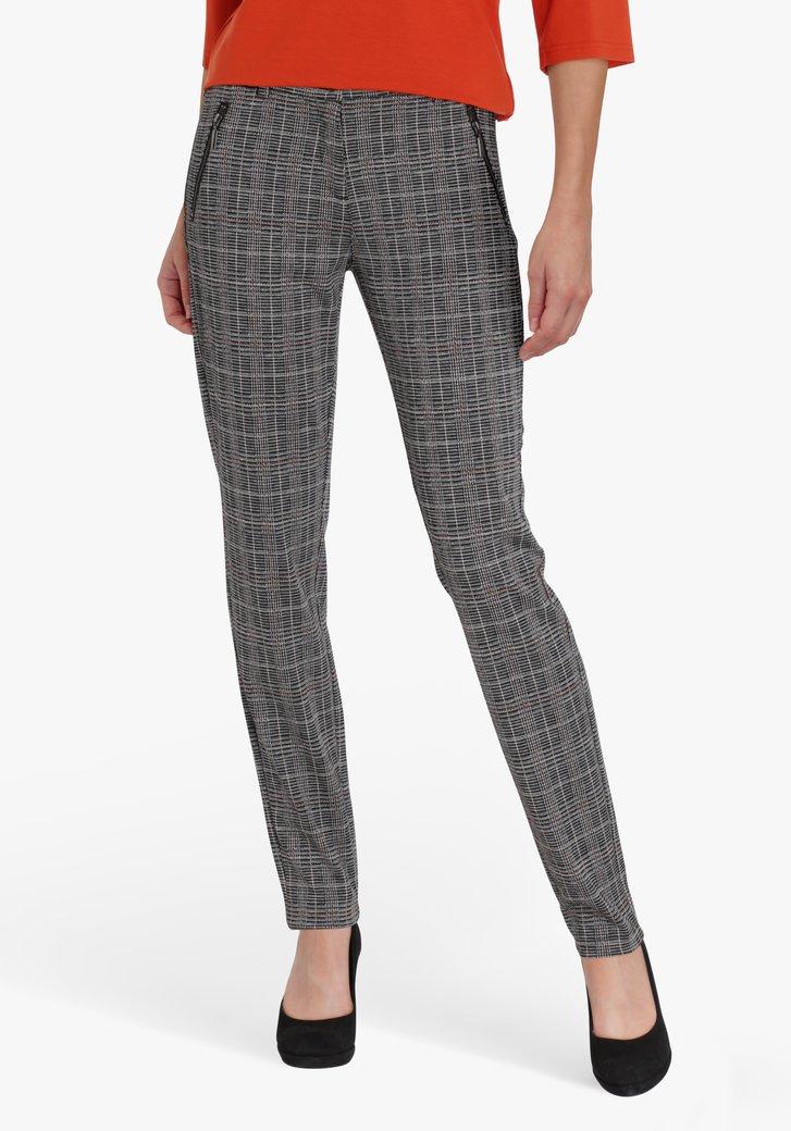 Pantalon à carreaux gris - slim fit