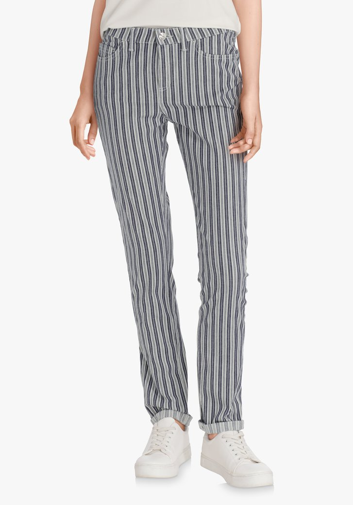 Pantalon à rayures bleu marine