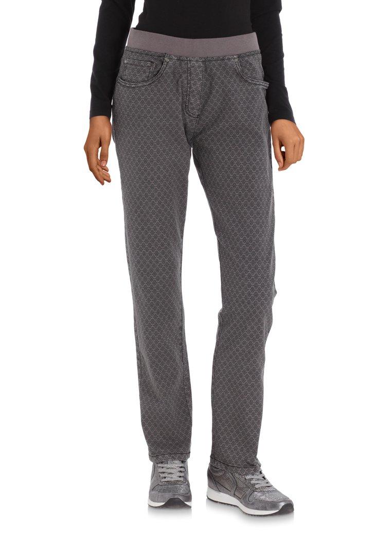 Pantalon anthracite à taille élastique – slim fit