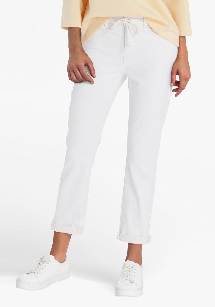 Pantalon beige 7/8 - slim fit