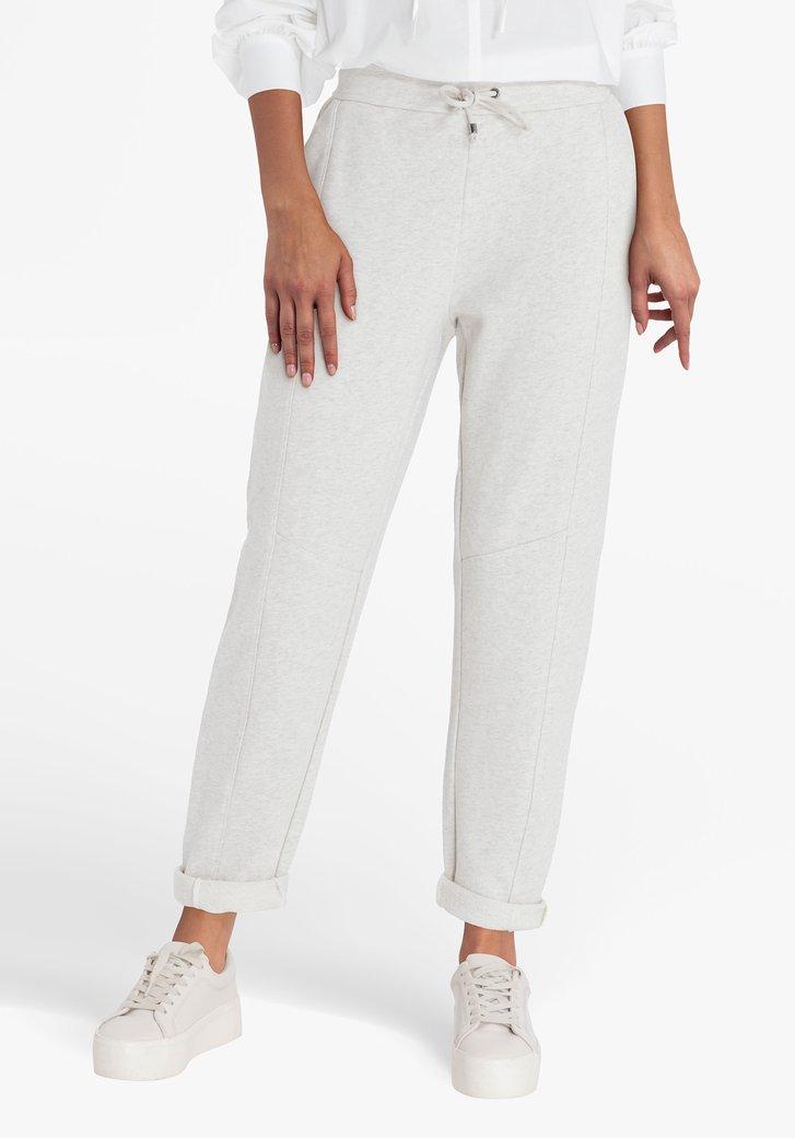 Pantalon beige avec taille élastique