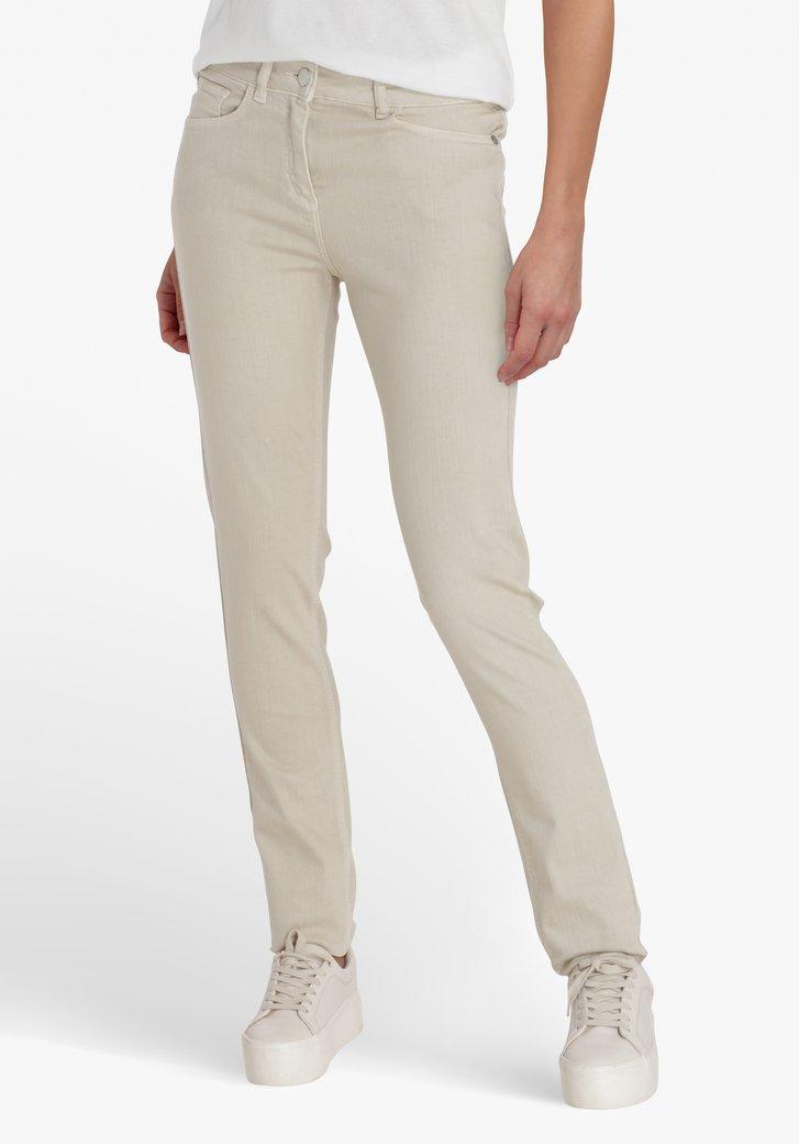 Pantalon beige clair  – slim fit