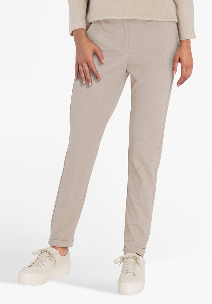 Pantalon beige - slim fit