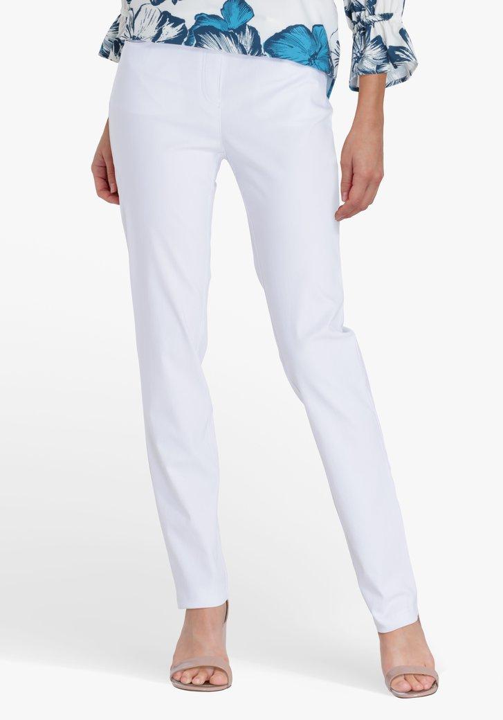 Pantalon blanc à taille élastique