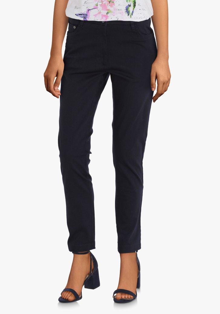 Pantalon bleu à taille haute avec du stretch