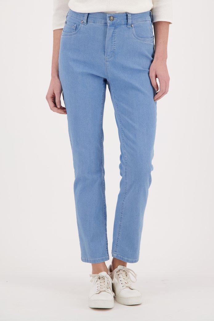 Pantalon bleu en coton stretch – comfort fit