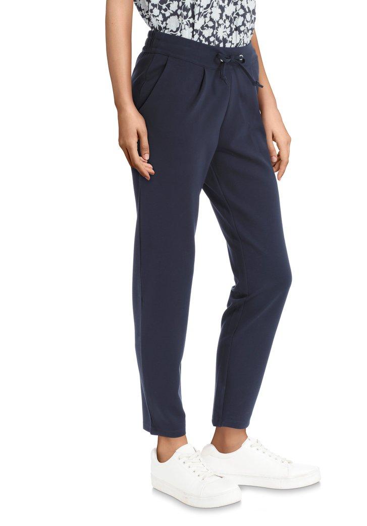 Pantalon bleu foncé en tissu stretch