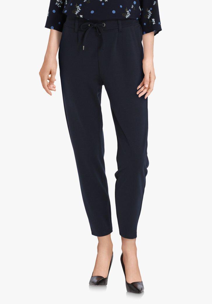 Pantalon bleu marine à taille élastique – slim fit