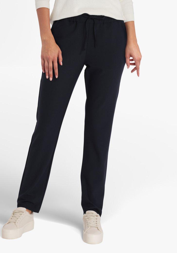 Pantalon bleu marine à taille élastiquée -slim fit