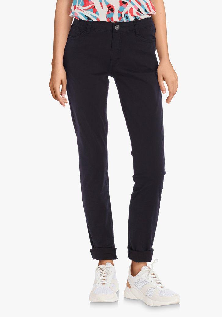 Pantalon bleu marine en coton stretch – slim fit
