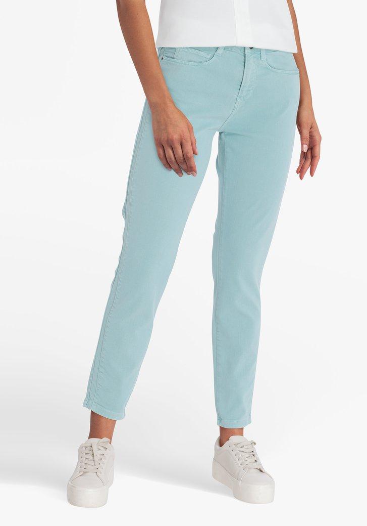 Pantalon bleu-vert 7/8 - slim fit