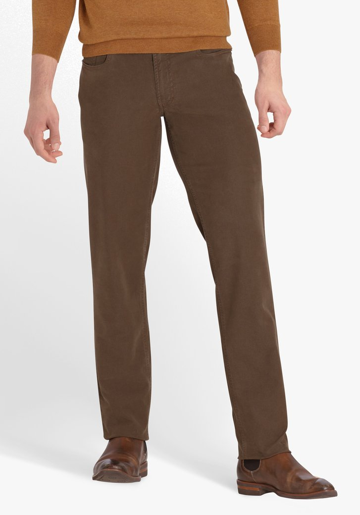 Pantalon bronze foncé - Jackson - regular fit