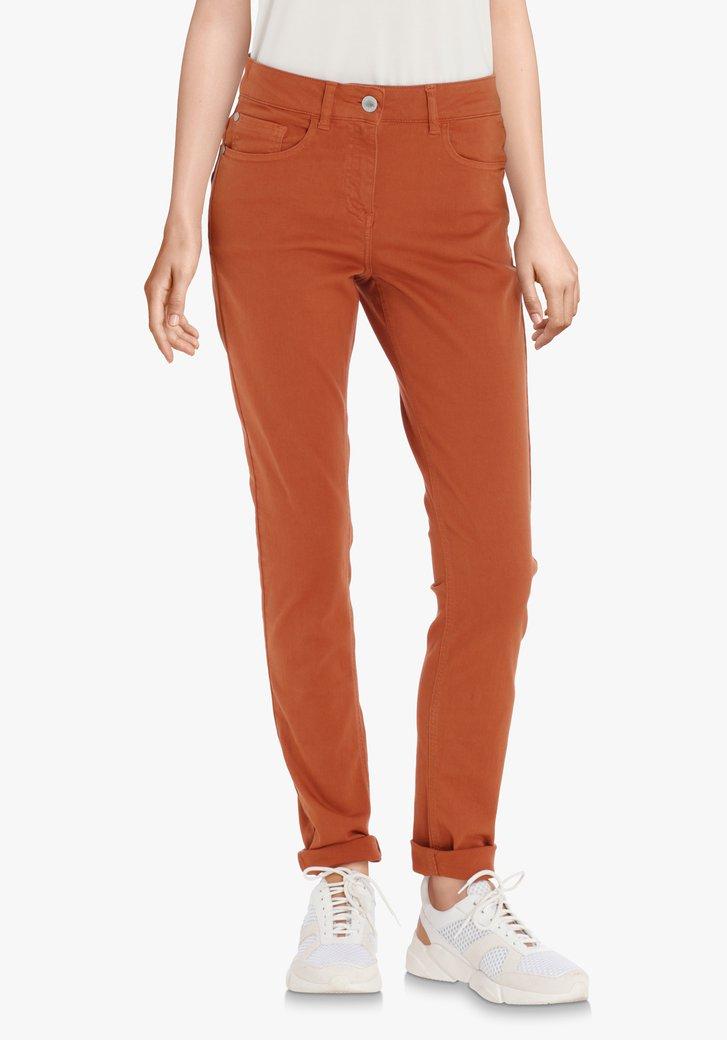 Pantalon brun rouille – slim fit