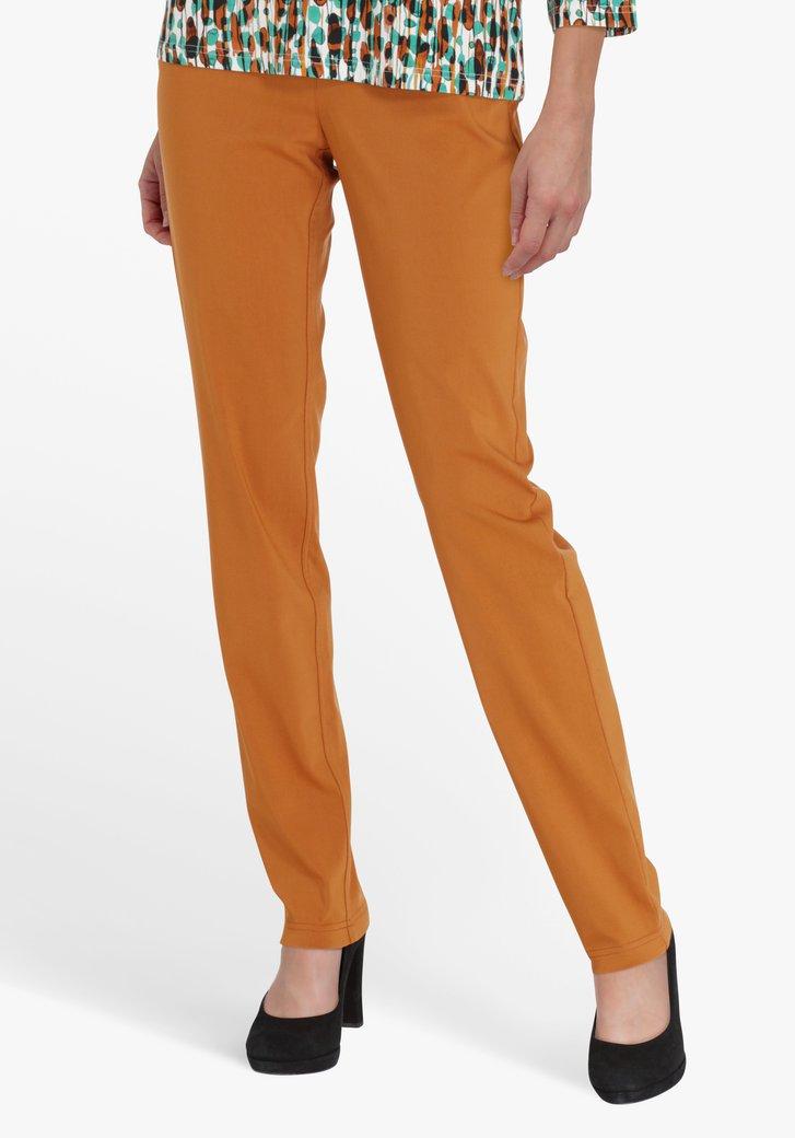 Pantalon brun rouille - straight fit