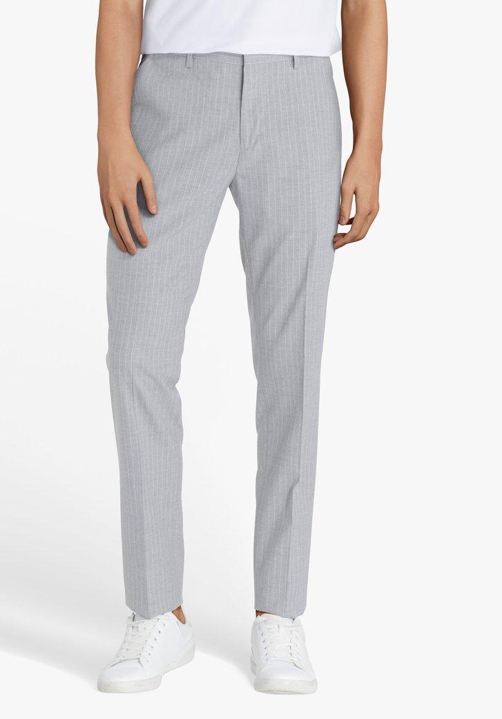 Pantalon de costume gris clair à rayures-slim fit