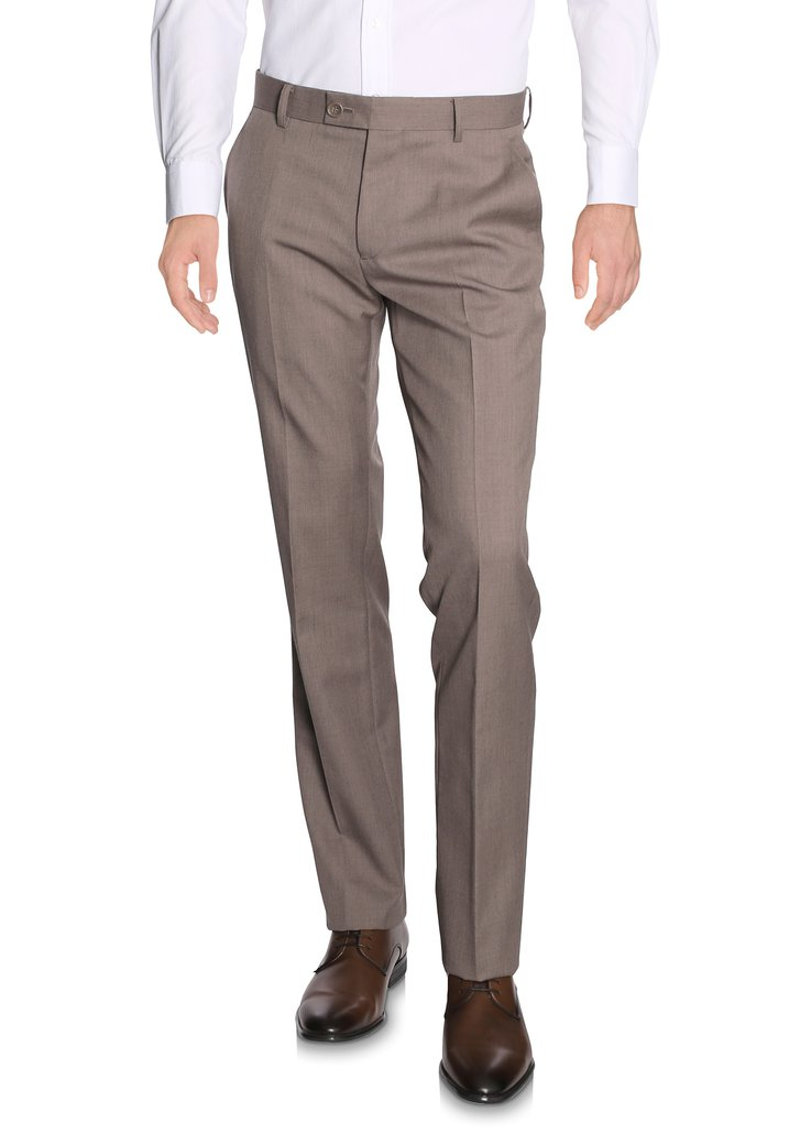 Pantalon de costume taupe Bonn - Regular fit