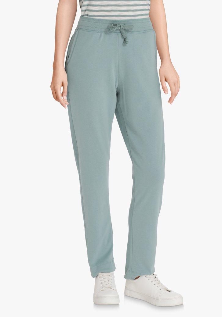 Pantalon de jogging bleu-vert à taille élastique