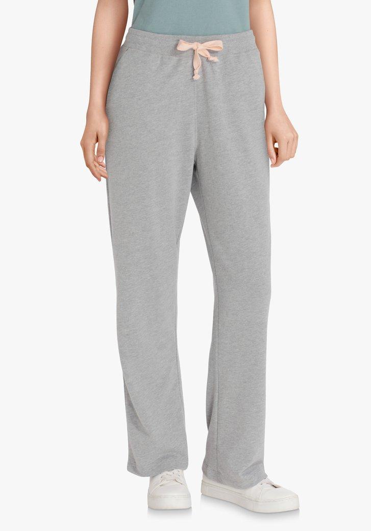 Pantalon de jogging gris clair à taille élastique