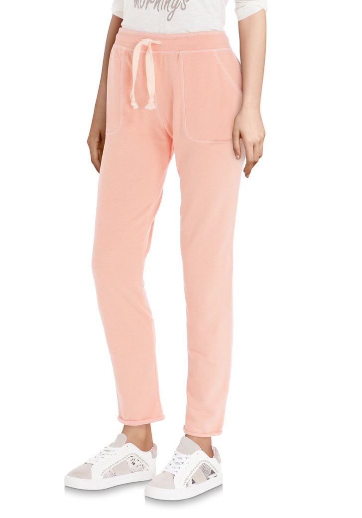 Pantalon de survêtement rose saumon