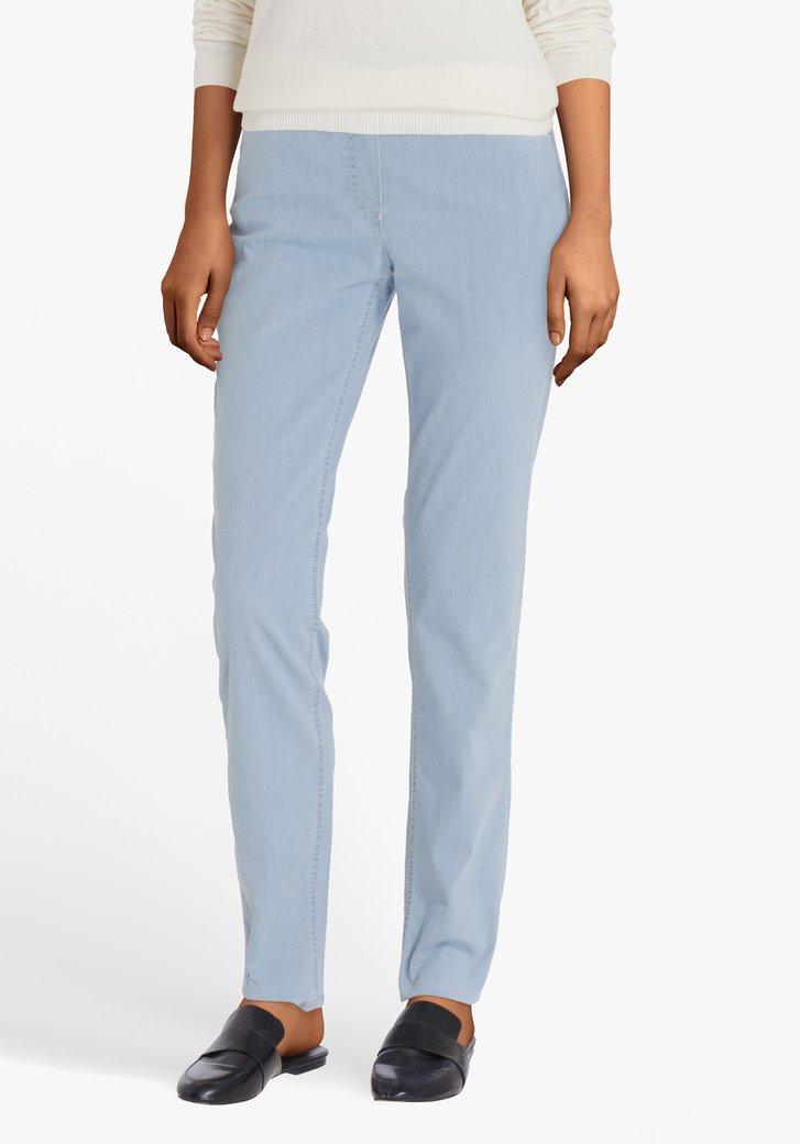 Pantalon en stretch bleu clair