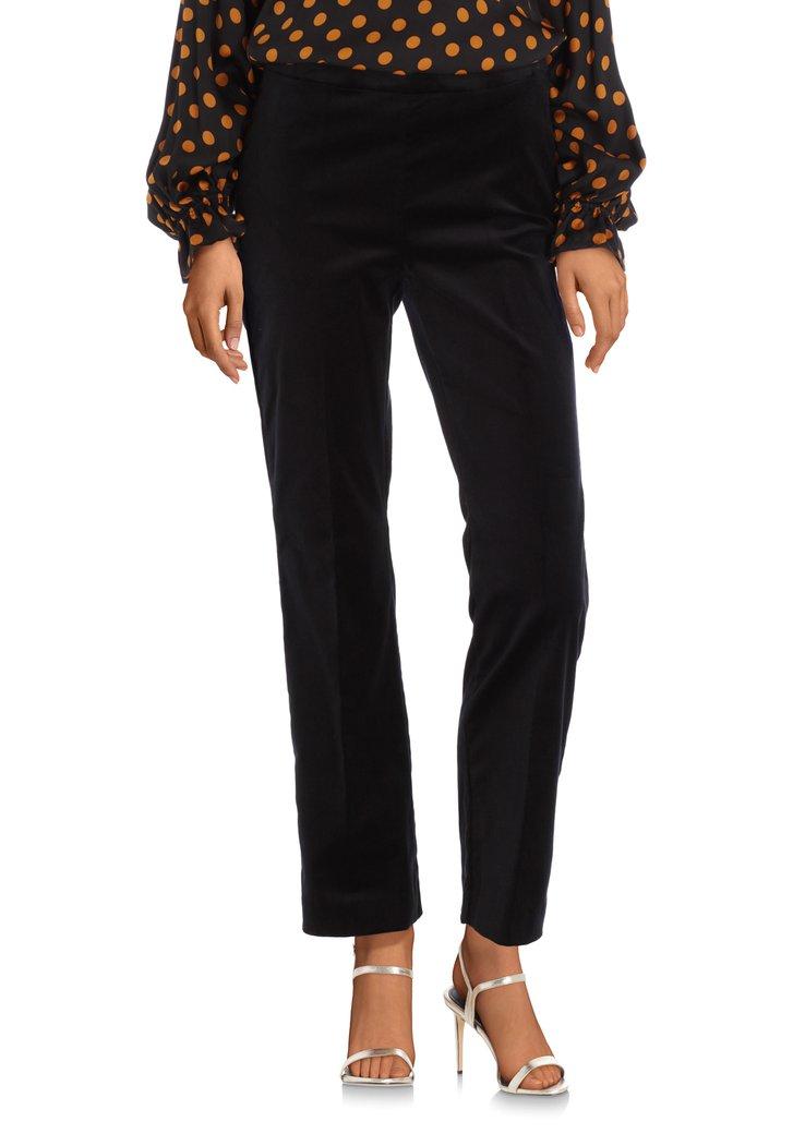 Pantalon en velours noir – slim fit