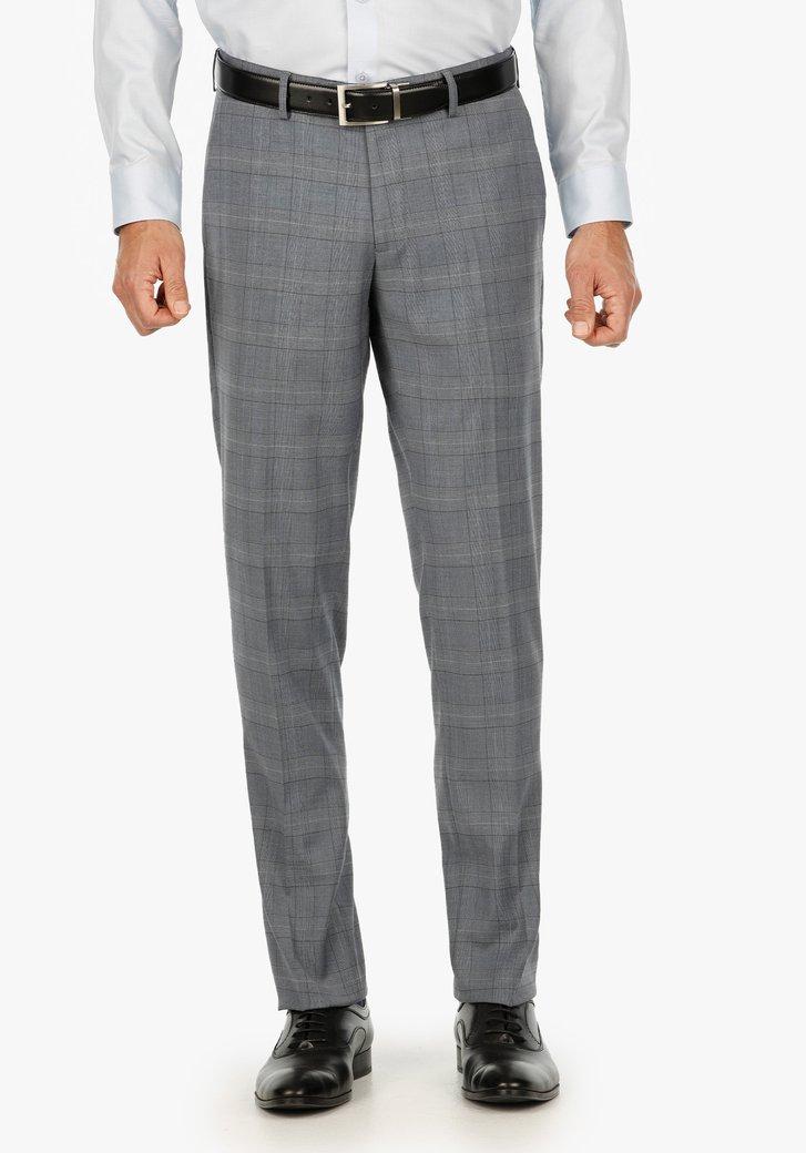 Pantalon gris clair à carreaux - slim fit