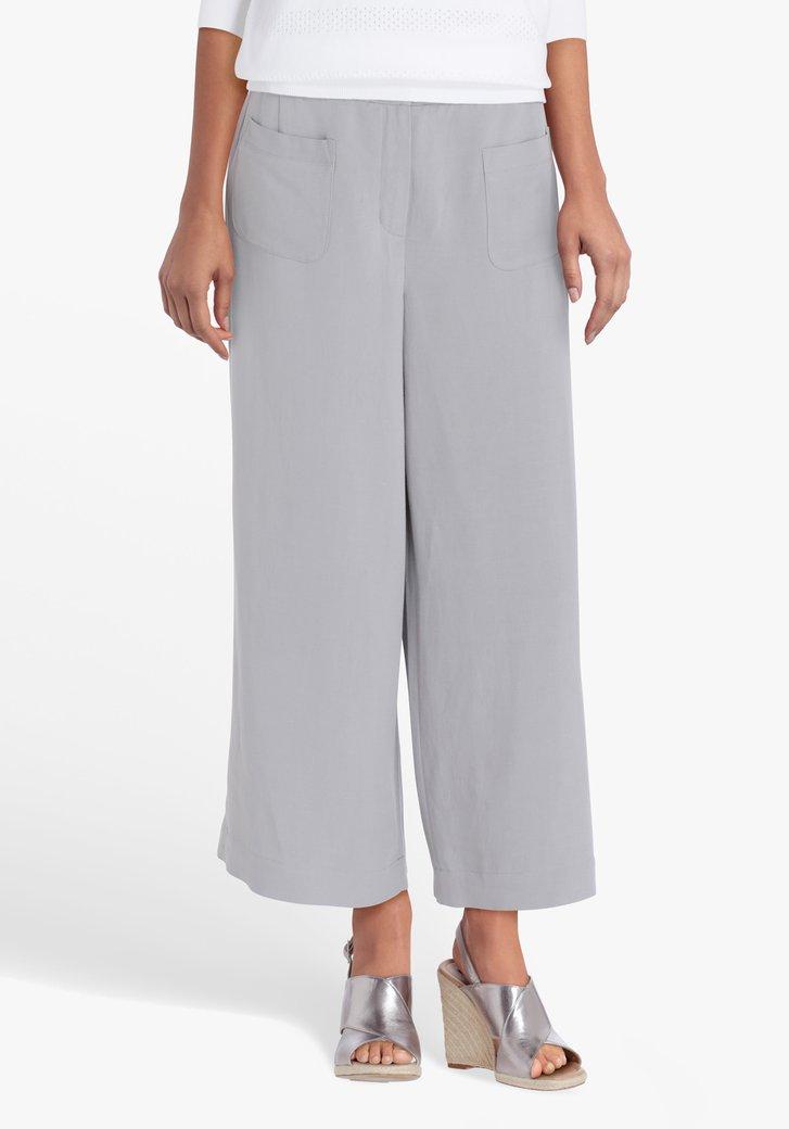 Pantalon gris, longueur 7/8