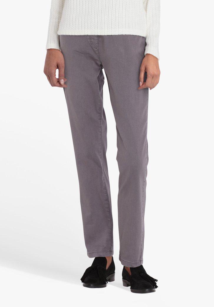 Pantalon gris, taille élastiquée-L32-straight fit