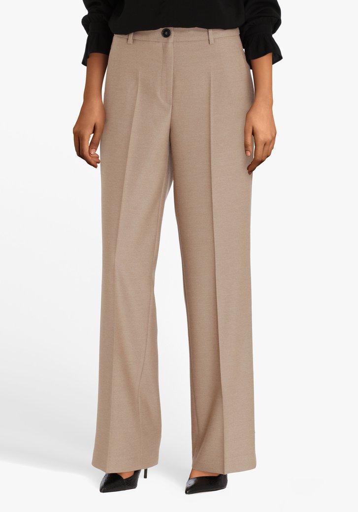 Pantalon habillé beige brun - straight fit