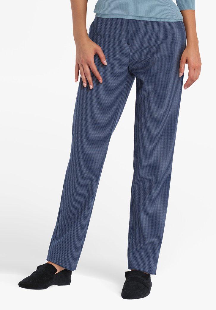 Pantalon habillé bleu avec motif - straight fit