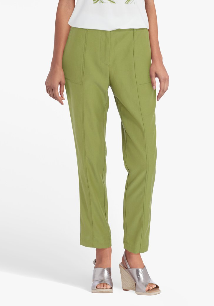 Pantalon habillé vert olive
