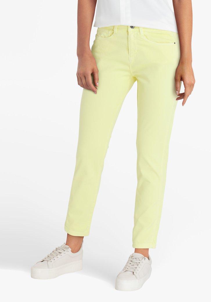 Pantalon jaune 7/8 - slim fit