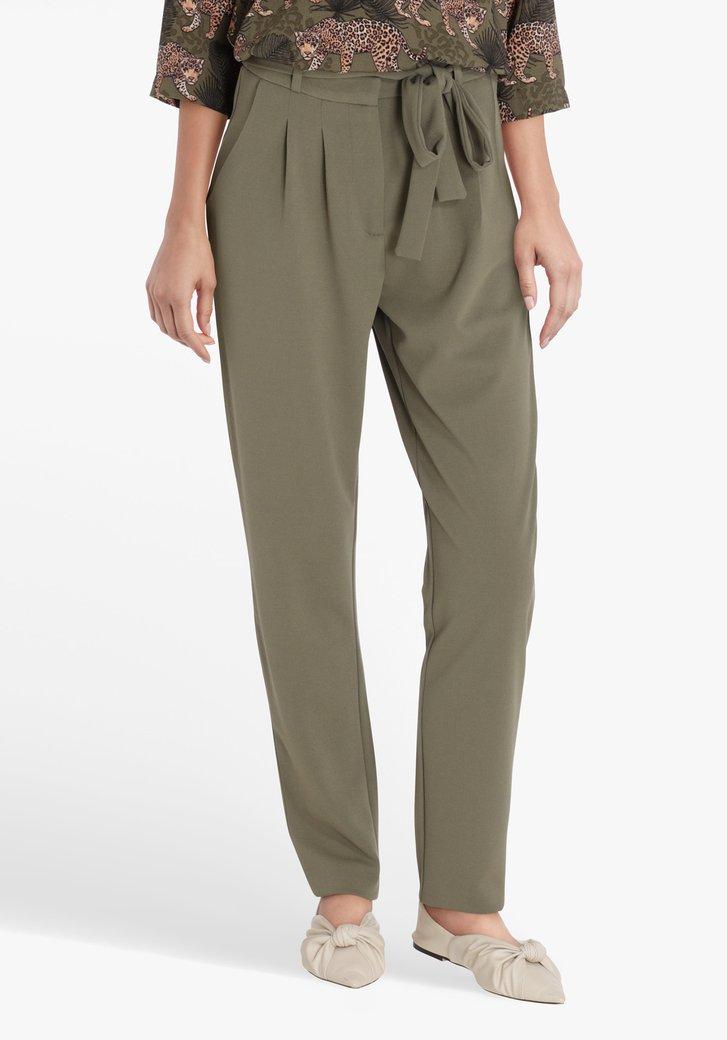 Pantalon kaki avec ceinture - slim fit