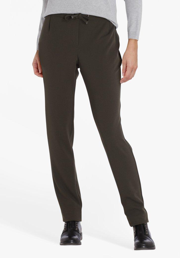 Pantalon kaki avec taille élastiquée - slim fit