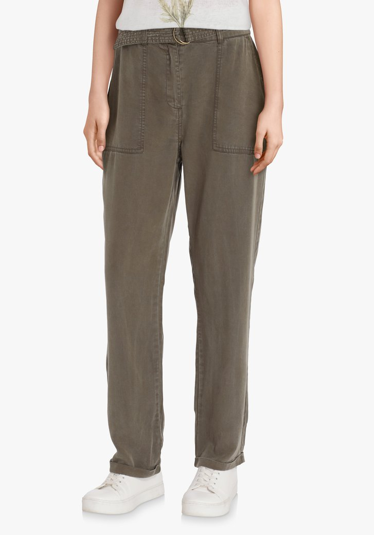 Pantalon kaki en lyocell - straight fit