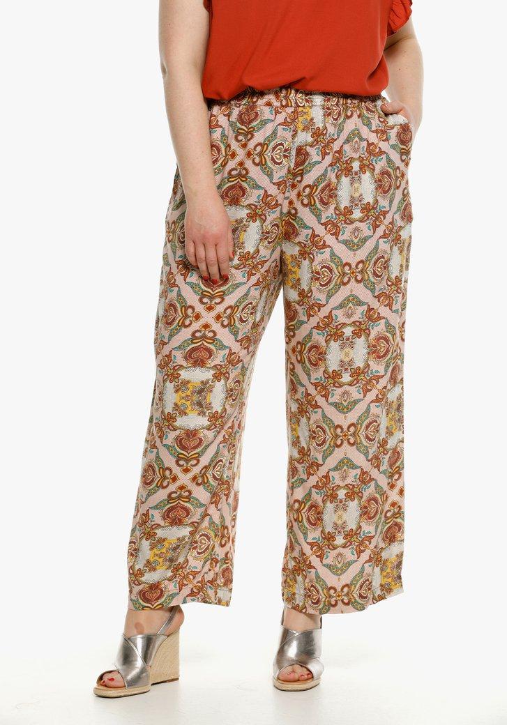Pantalon large à l'imprimé saisissant