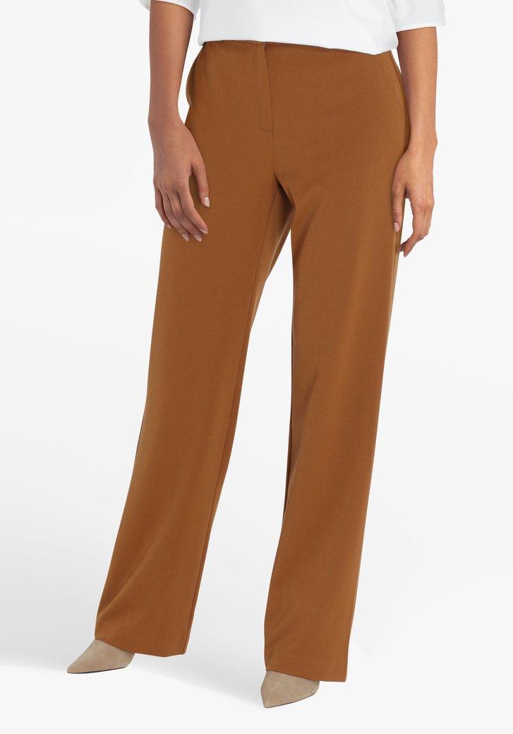 Pantalon large marron