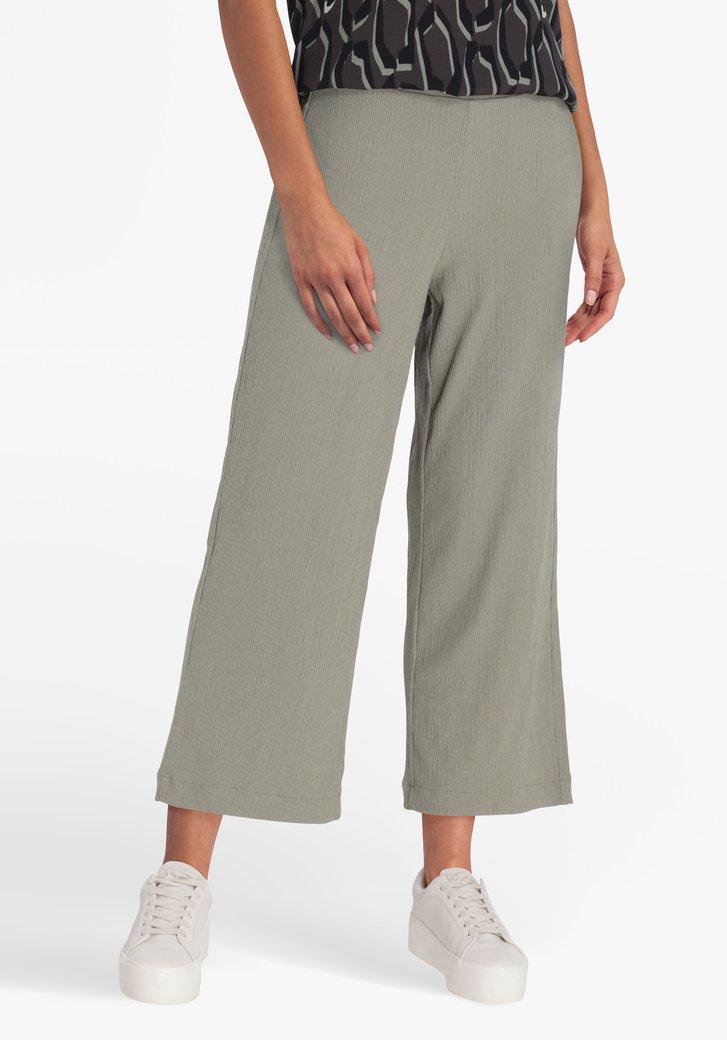 Pantalon large vert de mer en tissu texturé