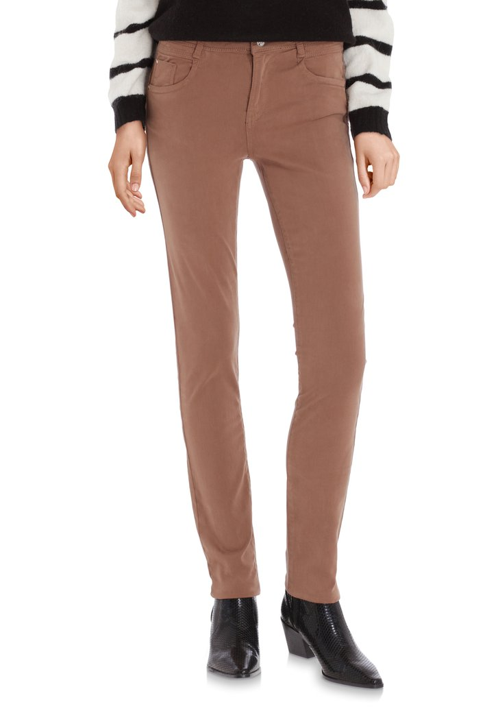 Pantalon marron clair – slim fit