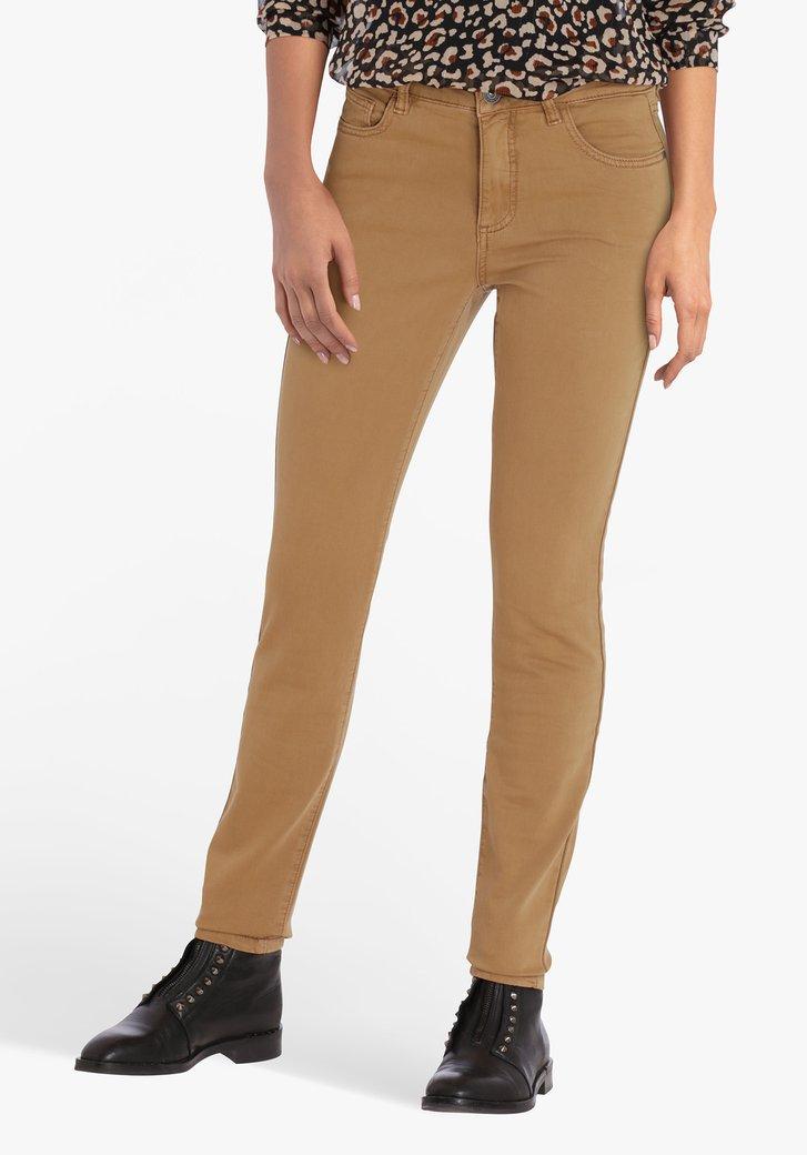 Pantalon marron clair - skinny fit